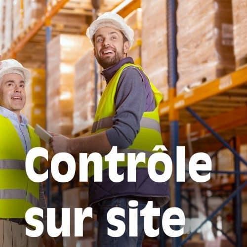 Contrôle sécurité rayonnages à palettes sur site client (sur devis)