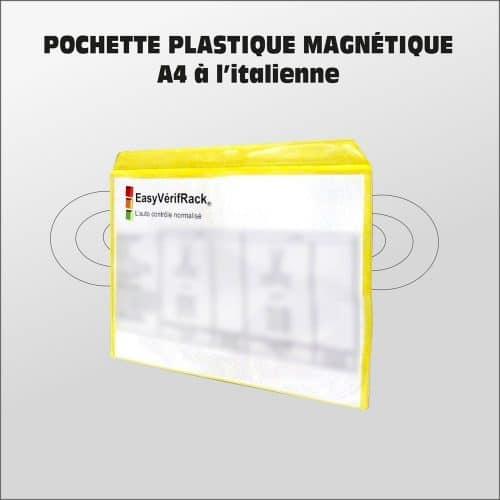 Pochette plastique magnétique A4 à l'italienne