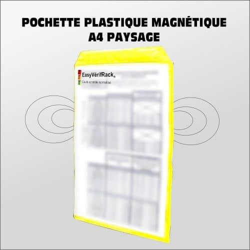 Pochette plastique magnétique A4 portrait