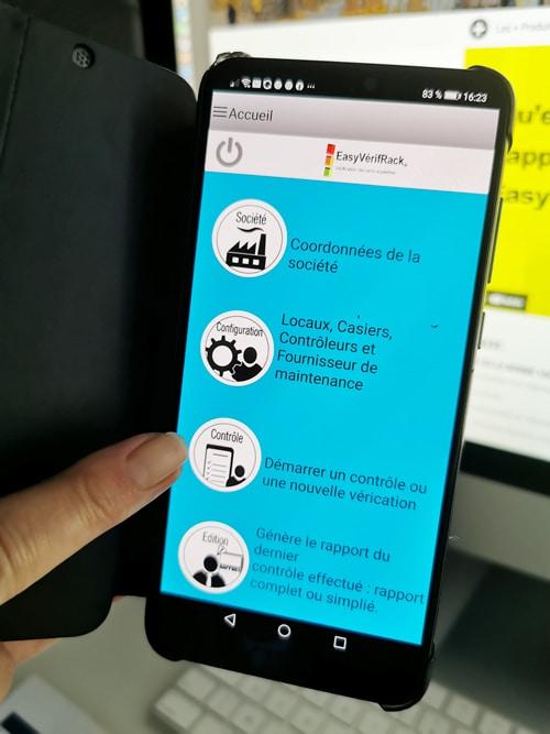 L'application EVR peut fonctionner sur un téléphone sous Android.